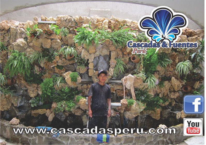 Cascadas artificiales cascadas fuentes per for Construccion de cascadas artificiales